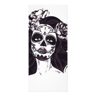 Cráneo gótico tarjeta publicitaria