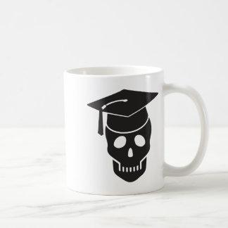 cráneo graduado de escuela taza de café