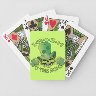 Cráneo irlandés cartas de juego