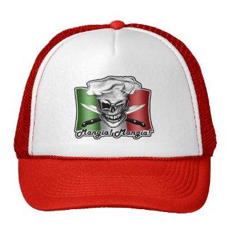 Cráneo italiano del cocinero: ¡Mangia! ¡Mangia! Gorra