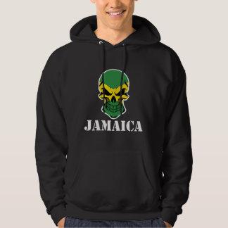 Cráneo jamaicano Jamaica de la bandera Sudadera