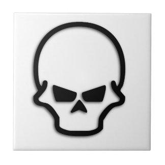 Cráneo malvado azulejo
