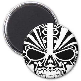Cráneo maorí de la máscara del tatuaje