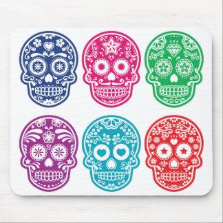 Cráneo mexicano del azúcar, Dia De Los Muertos Alfombrilla De Ratón