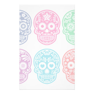 Cráneo mexicano del azúcar, Dia De Los Muertos Papelería Personalizada