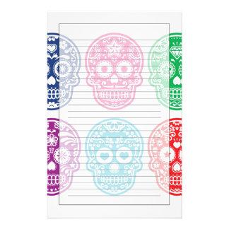 Cráneo mexicano del azúcar, Dia De Los Muertos Papeleria