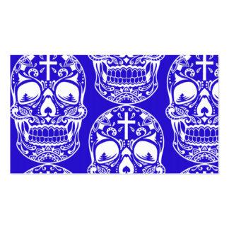 Cráneo Midngiht Blue.png del azúcar Tarjetas De Negocios