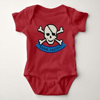Cráneo - mono rojo del jersey del bebé