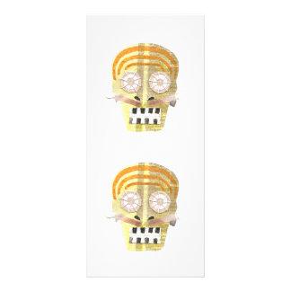 Cráneo musical Rackcard Tarjeta Publicitaria