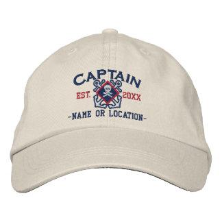 Cráneo náutico personalizado del capitán de mar gorra de béisbol
