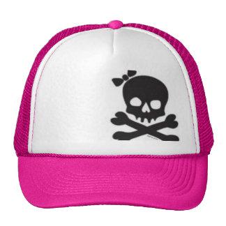 Cráneo para mujer y bandera pirata gorros