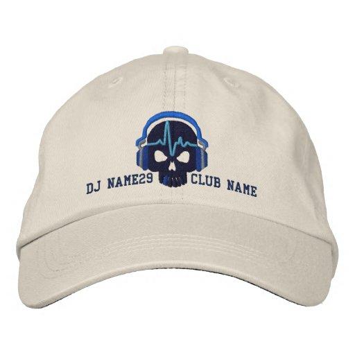 Cráneo personalizado de DJ su bordado conocido del Gorra Bordada