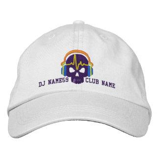 Cráneo personalizado de DJ su bordado conocido del Gorras Bordadas