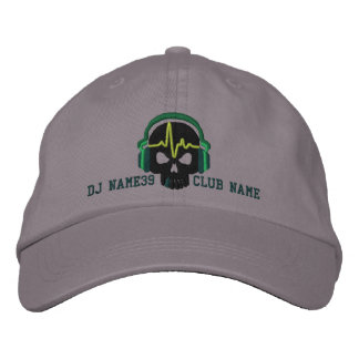 Cráneo personalizado de DJ su bordado conocido del Gorras De Béisbol Bordadas