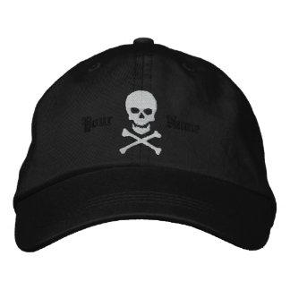 Cráneo personalizado y casquillo bordado de la gorra bordada