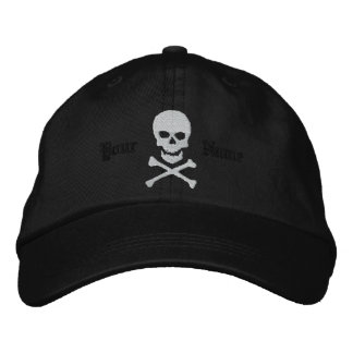 Cráneo personalizado y casquillo bordado de la gorros bordados