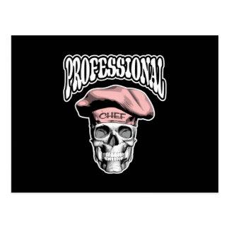 Cráneo profesional v5 del cocinero postal