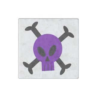 Cráneo púrpura e imán de piedra de la bandera