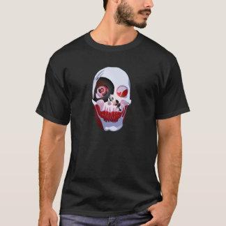 Cráneo sangriento del pirata camiseta
