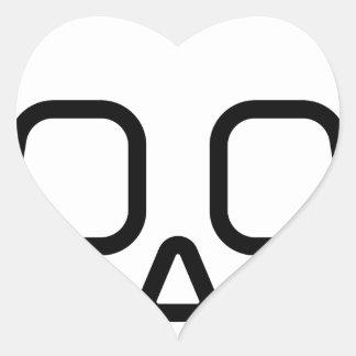 Cráneo simple pegatina en forma de corazón