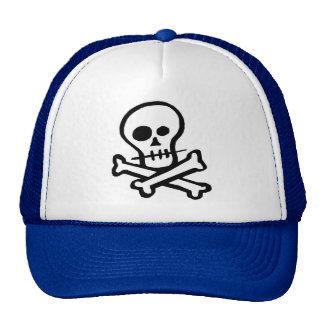 Cráneo simple y bandera pirata de B&W Gorras