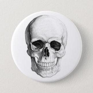 Cráneo sonriente chapa redonda de 7 cm