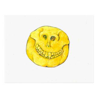 Cráneo sonriente de la cara postal