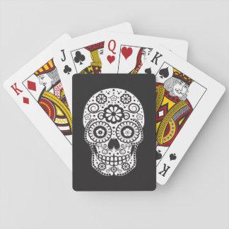 Cráneo sonriente del azúcar baraja de cartas