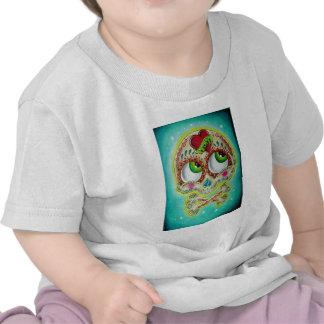 Cráneo tatuado del azúcar camisetas