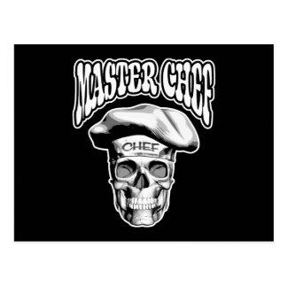 Cráneo v5 del maestro cocinero postal