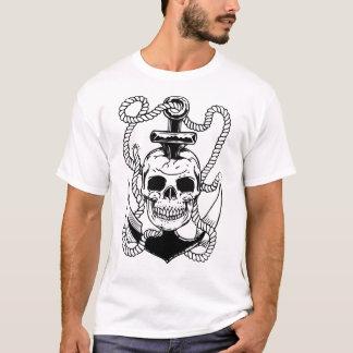 Cráneo y ancla camiseta