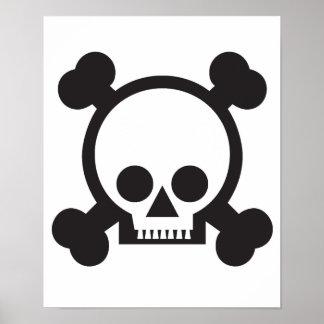 cráneo y bandera pirata 2 posters