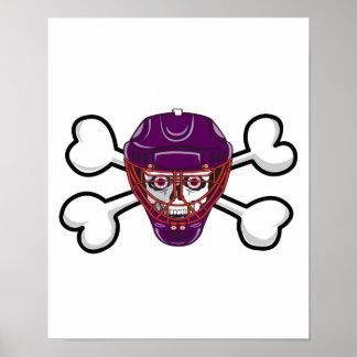 cráneo y bandera pirata de la máscara del cráneo d posters