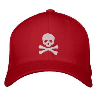 Cráneo y bandera pirata del pirata cabidos gorra de beisbol