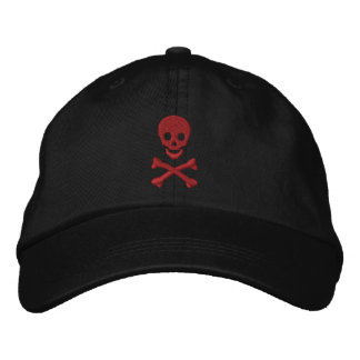 Cráneo y bandera pirata gorras de beisbol bordadas