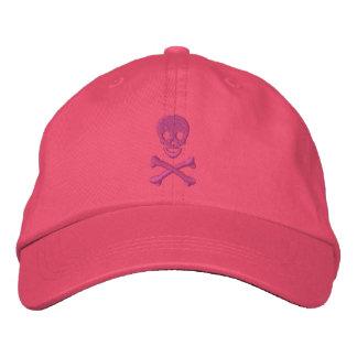Cráneo y bandera pirata gorro bordado