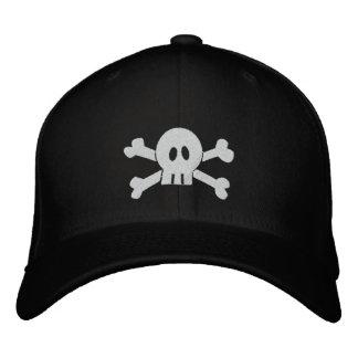 Cráneo y bandera pirata gorros bordados
