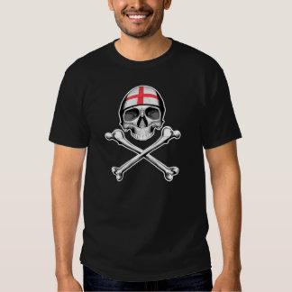 Cráneo y bandera pirata: Inglaterra Camisetas
