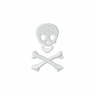 Cráneo y bandera pirata polo bordado