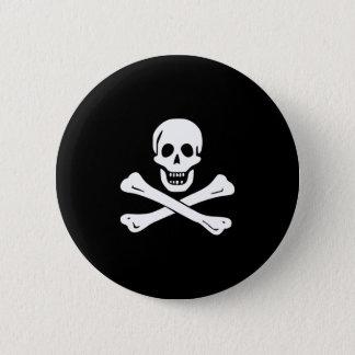 Cráneo y bandera pirata Rogelio alegre de bandera Chapa Redonda De 5 Cm