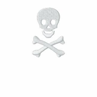 Cráneo y bandera pirata sudadera bordada con capucha