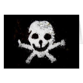 Cráneo y bandera pirata tarjeta de felicitación