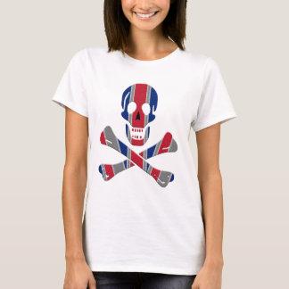 Cráneo y bandera pirata Union Jack Camiseta