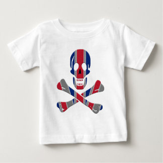 Cráneo y bandera pirata Union Jack Camiseta De Bebé