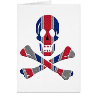 Cráneo y bandera pirata Union Jack Tarjeta De Felicitación