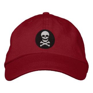 Cráneo y casquillo bordado de la bandera pirata gorra de béisbol bordada