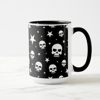 Cráneo y estrellas del gótico taza