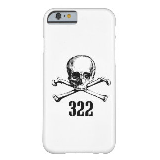 Cráneo y huesos 322 funda para iPhone 6 barely there