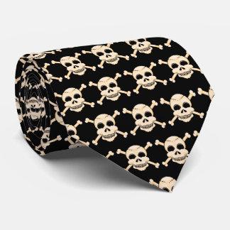 Cráneo y lazo de la bandera pirata corbatas personalizadas
