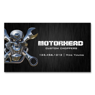 Cráneo y llave elegantes de la trabajo de tarjetas de visita magnéticas (paquete de 25)